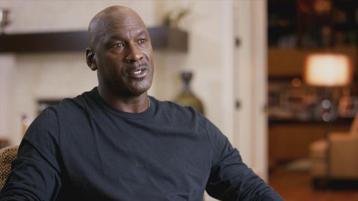"Michael Jordan in ""The Last Dance"" on Netflix."