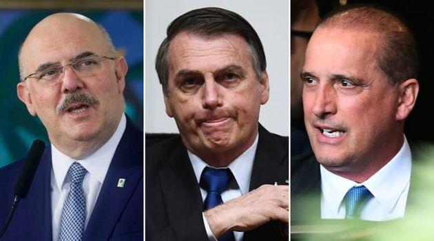 Milton Ribeiro, Jair Bolsonaro, Onyx Lorenzoni: diversos membros do governo foram infectados pelo novo