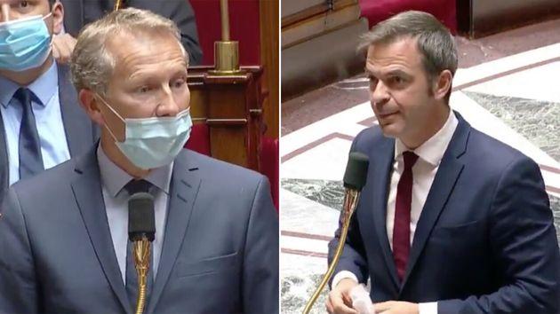 Olivier Véran a répondu au député Guillaume Garot sur la question de la gratuité à venir des masques,...