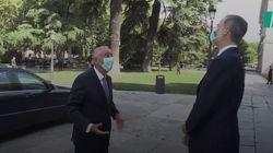 El presidente de Portugal se baja del coche, dice esto de España y provoca la reacción del