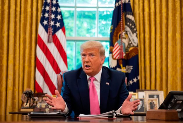 US President Donald Trump speaks at the White House in Washington, DC, on July 20, 2020. (Photo by JIM...