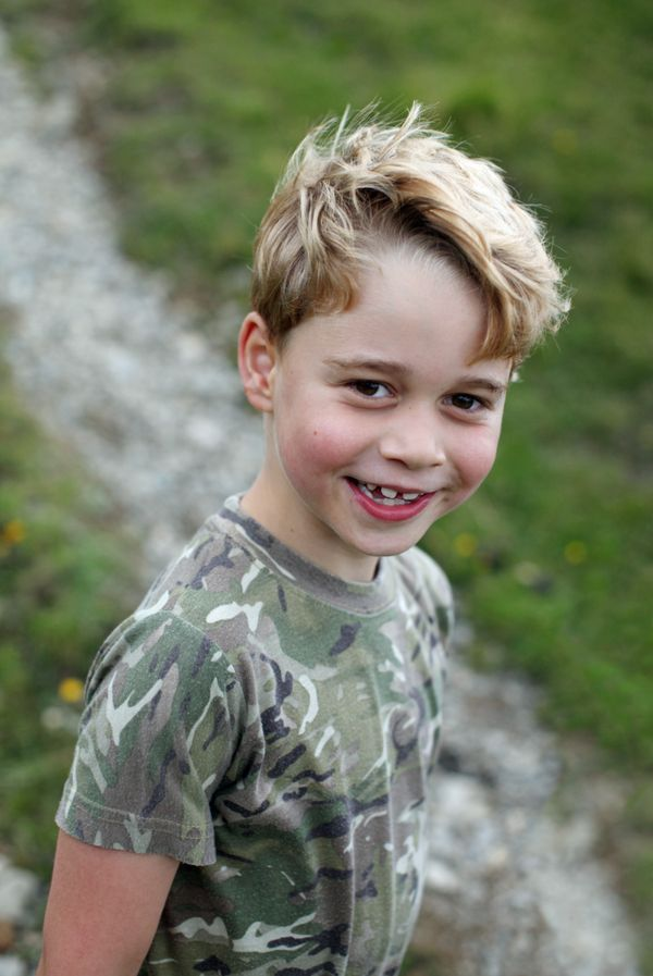 The Duchess of Cambridge also took this photo of Prince George to mark his birthday.