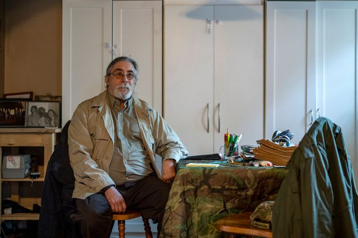 Bill Pringle, diagnosed with bipolar disorder, in his home in Saskatoon on July 14, 2020. Police have been called to his home to save his life multiple times.