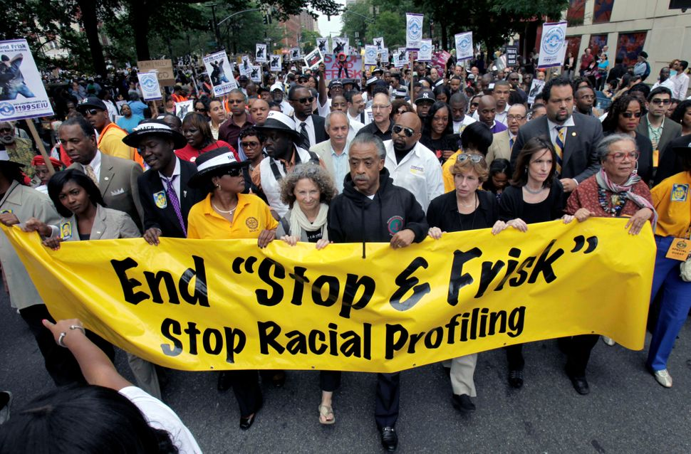 The stop-and-frisk police tactic targeted by protestors in New York City in 2012 was approved by the Supreme Court in its 196