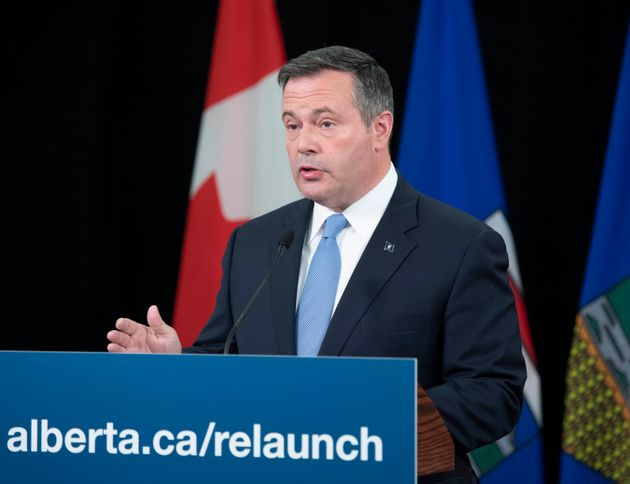 Alberta Premier Jason Kenney during a news conference on July 21,