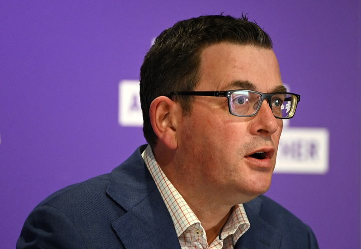 Victorian Premier Daniel Andrews speaks to the media on July 20, 2020 in Melbourne, Australia. (Photo by Quinn Rooney/Getty Images)