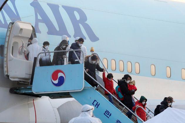 우한 교민 입국 당시