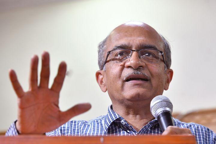 Supreme Court lawyer and anti-corruption activist Prashant Bhushan in Bangalore on March 30, 2019.