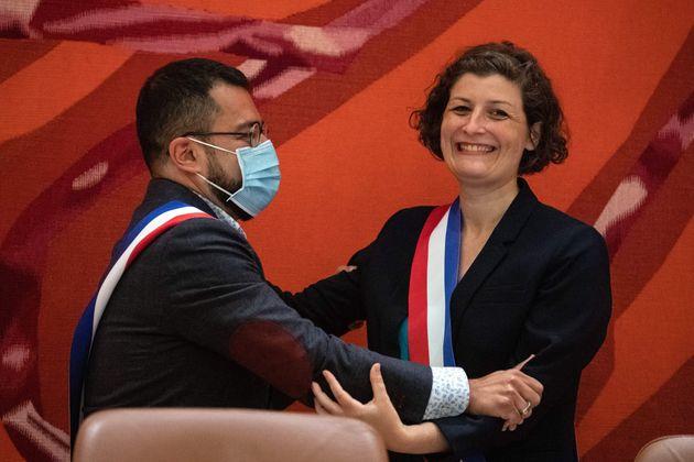 Jeanne Barseghian à la mairie de Strasbourg le 4