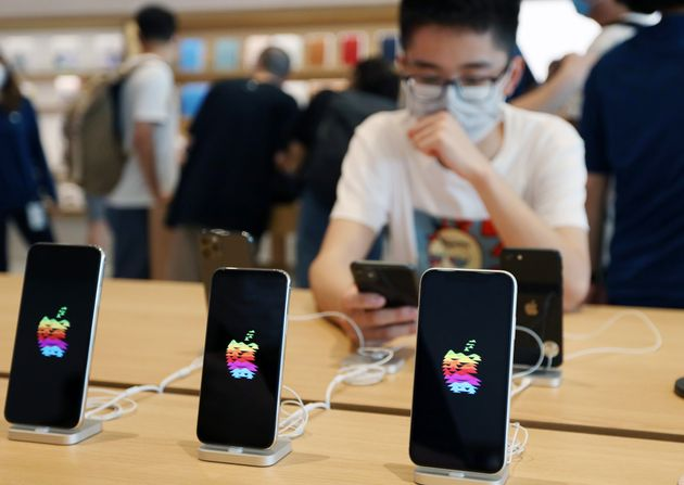 지난 17일 중국 베이징 산리툰에 새로 문을 연 애플