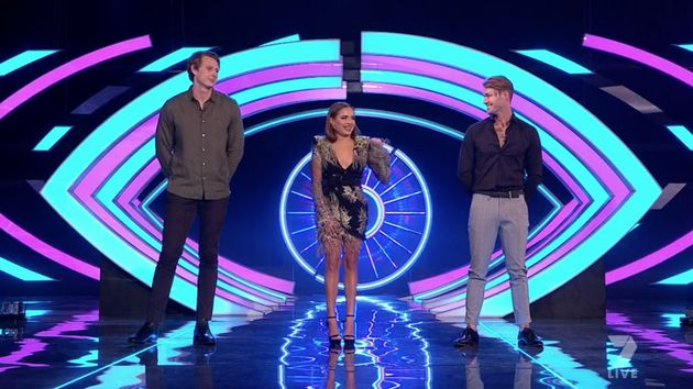 Daniel Gorringe, Sophie Budack and Chad Hurst at the 'Big Brother Australia' grand