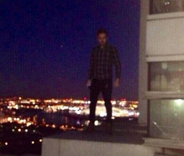 Liam Payne on a rooftop in East