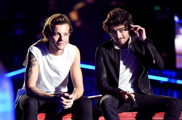 Louis Tomlinson and Zayn Malik during a 1D