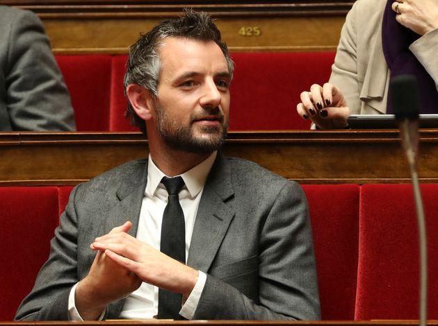 Le député Florian Bachelier (LREM) à l'Assemblée nationale, le 28 novembre