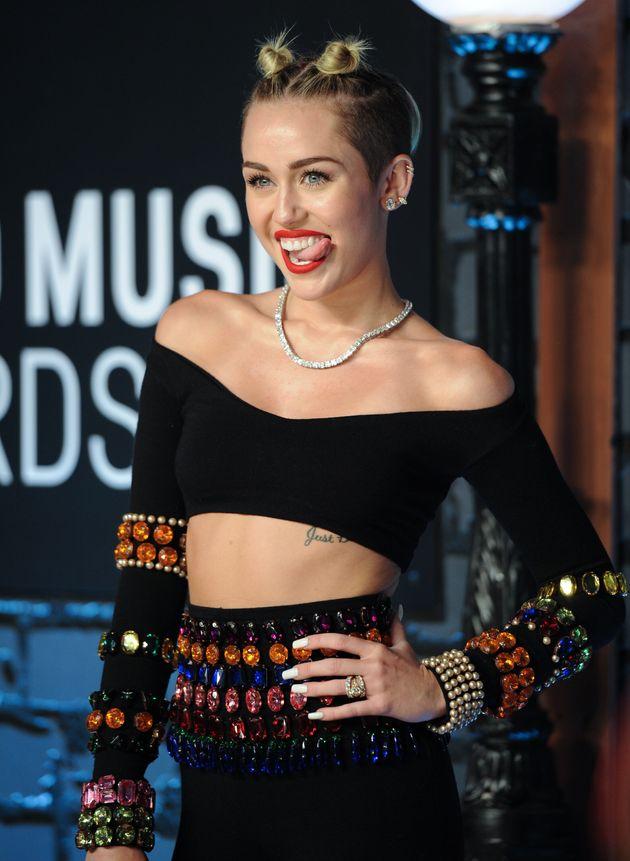 Miley Cyrus at the VMAs in