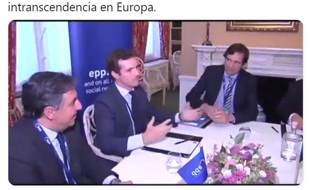 Pablo Casado en un vídeo en