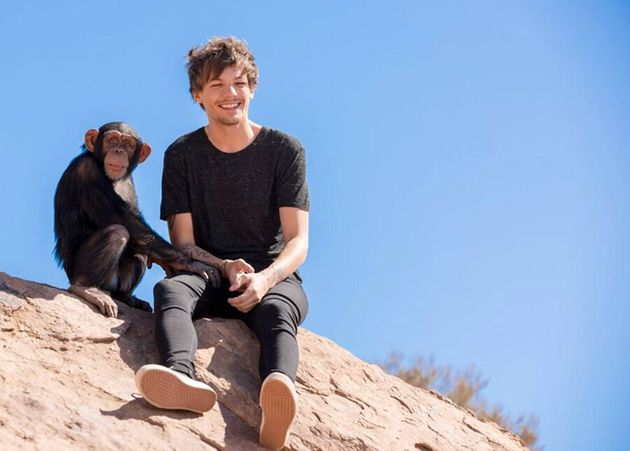 Louis Tomlinson on the set of the Steal My Girl music