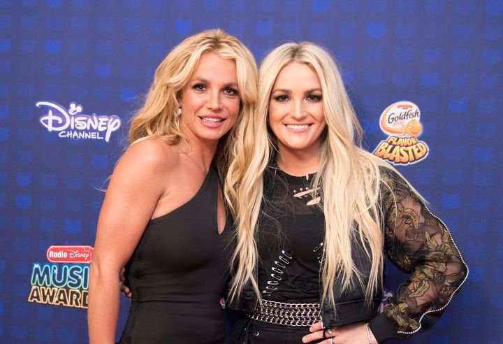 Britney and Jamie Lynn Spears pictured together in 2017.