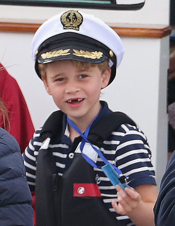 Prince George attends the inaugural King's Cup regatta hosted by the Duke and Duchess of Cambridge on Aug. 8, 2019 in Cowes,