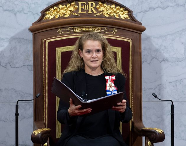 Governor General Julie Payette delivers the Throne Speech in the Senate chamber on Dec. 5, 2019 in