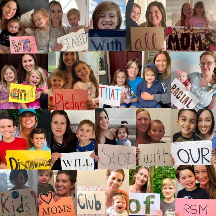 A photo collage created by the MOMS Club of Rancho Santa Margarita in Orange County, California, after the killing of George