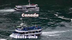 Aux chutes du Niagara, le contraste entre touristes canadiens et américains est