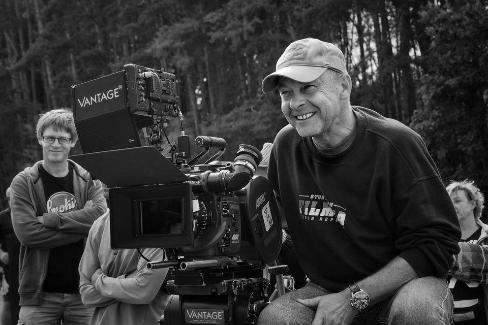 O cineasta thecoVáclav Marhoul durante as filmagens de