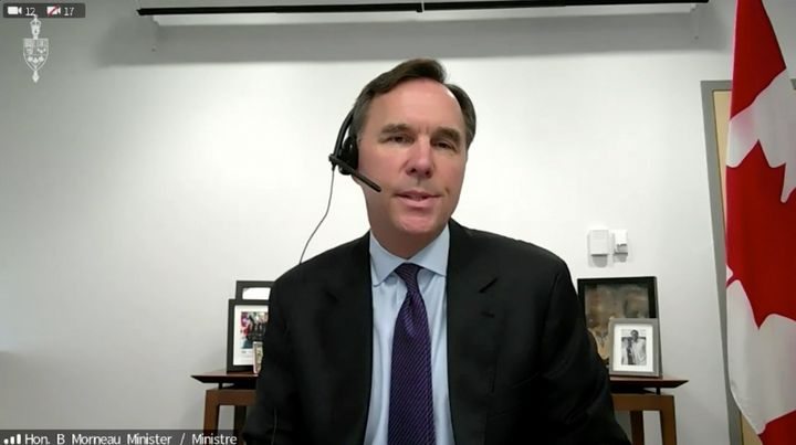 Finance Minister Bill Morneau appears before the House of Commons finance committee on July 22, 2020.