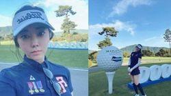 배우 박수인이 '골프장 갑질 논란'에 억울함 토로하며 한