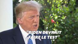Personne, femme, homme, caméra, TV... Trump a essayé d'expliquer son test