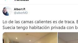 Un médico español que trabaja en Suecia compara su habitación con la de los residentes de Madrid: dos fotos le