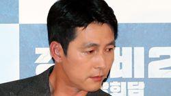 정우성이 '강철비2' 기자간담회에서 눈물을 보인