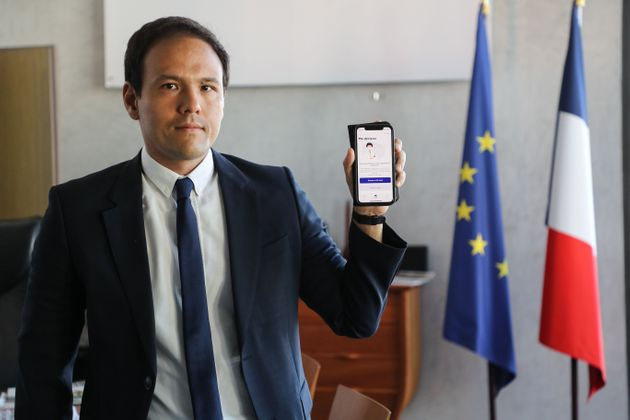 Cedric O, France's junior minister for digital affairs, presents the StopCovid contact tracing app at...