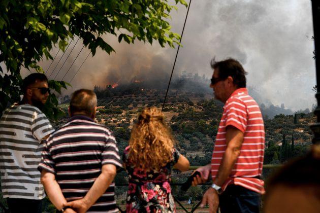 Φωτία στις Κεχριές: Καλύτερη η κατάσταση - Μεγάλος φόβος οι ισχυροί