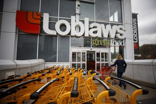 A shopper enters a Loblaws grocery story in Toronto on April 30, 2019. Canada's largest grocer reported...