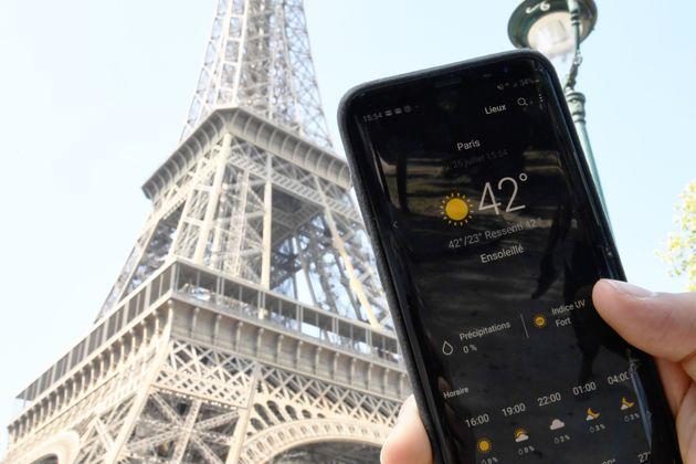 42 degrés mesurés à Paris le 25 juillet 2019, un record, durant une vague de
