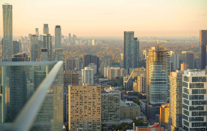 A view of high-rises in downtown and mid-town Toronto. Two new reports from Statistics Canada predict a slowdown in condo markets in the wake of the COVID-19 pandemic.