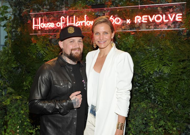 Benji Madden and Cameron Diaz attend House of Harlow 1960 x REVOLVE on June 2, 2016, in Los Angeles.