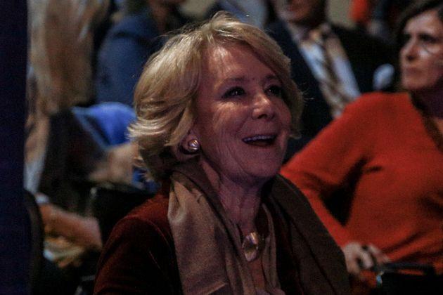 Esperanza Aguirre, en la presentación del último libro de Mario Vargas