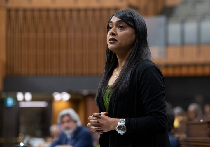 Diversity, Inclusion, and Youth Minister Bardish Chagger responds to questions from the opposition during a sitting of the Special Committee on the COVID-19 Pandemic in the House of Commons on July 22, 2020 in Ottawa.