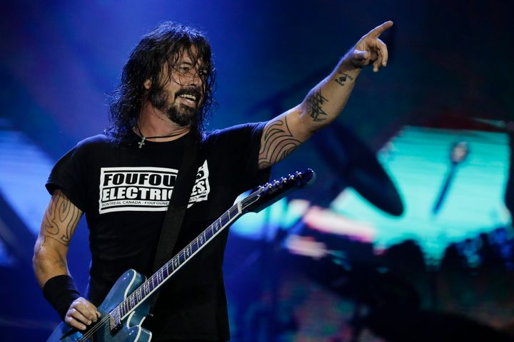 Dave Grohl performs at the Rock in Rio music festival in Rio de Janeiro in September 2019.