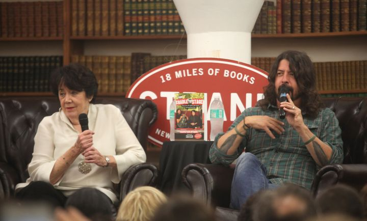 "Dave Grohl and his mother, Virginia Grohl, attend a 2017 event in New York City to promote her book, ""From Cradle to St"