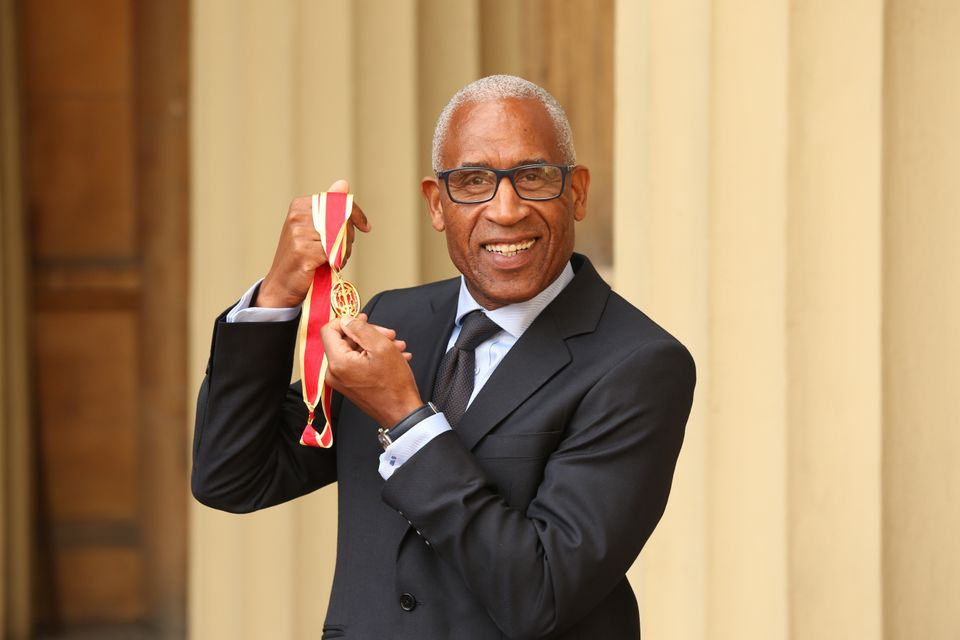 Sir Simon Woolley who received the Honour of Knighthood during an investiture ceremony at Buckingham...