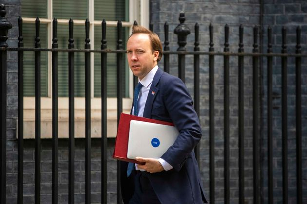 Matt Hancock, Secretary of State for Health and Social Care in Downing Street,