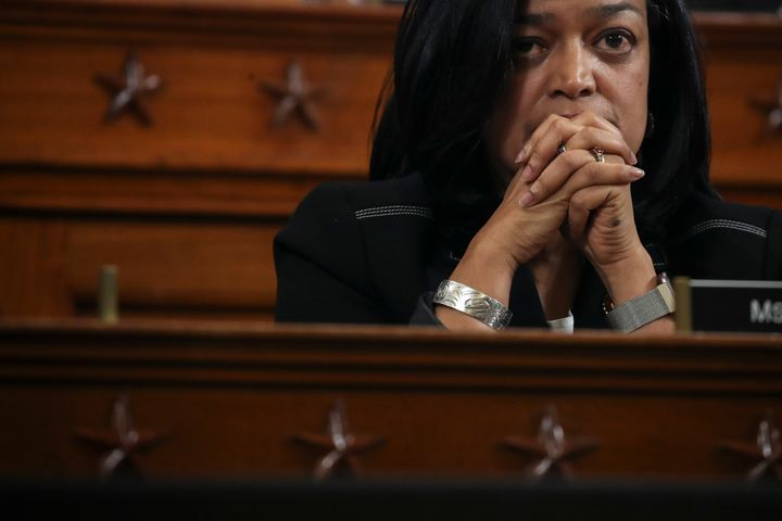 Rep. Pramila Jayapal (D-Wash.) during a committee hearing on the articles of impeachment against President Donald Trump on Ca