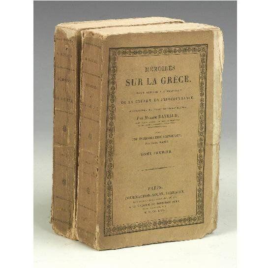 Το δίτομο έργο του Raybaud, Memoirs sur la
