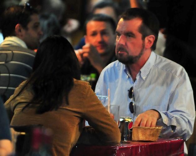 Jesús Ortiz, en un restaurante en una imagen del año