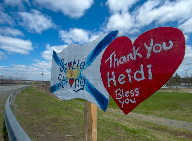 A memorial pays tribute to RCMP Const. Heidi Stevenson, one of the victims of the Nova Scotia mass shooting,...