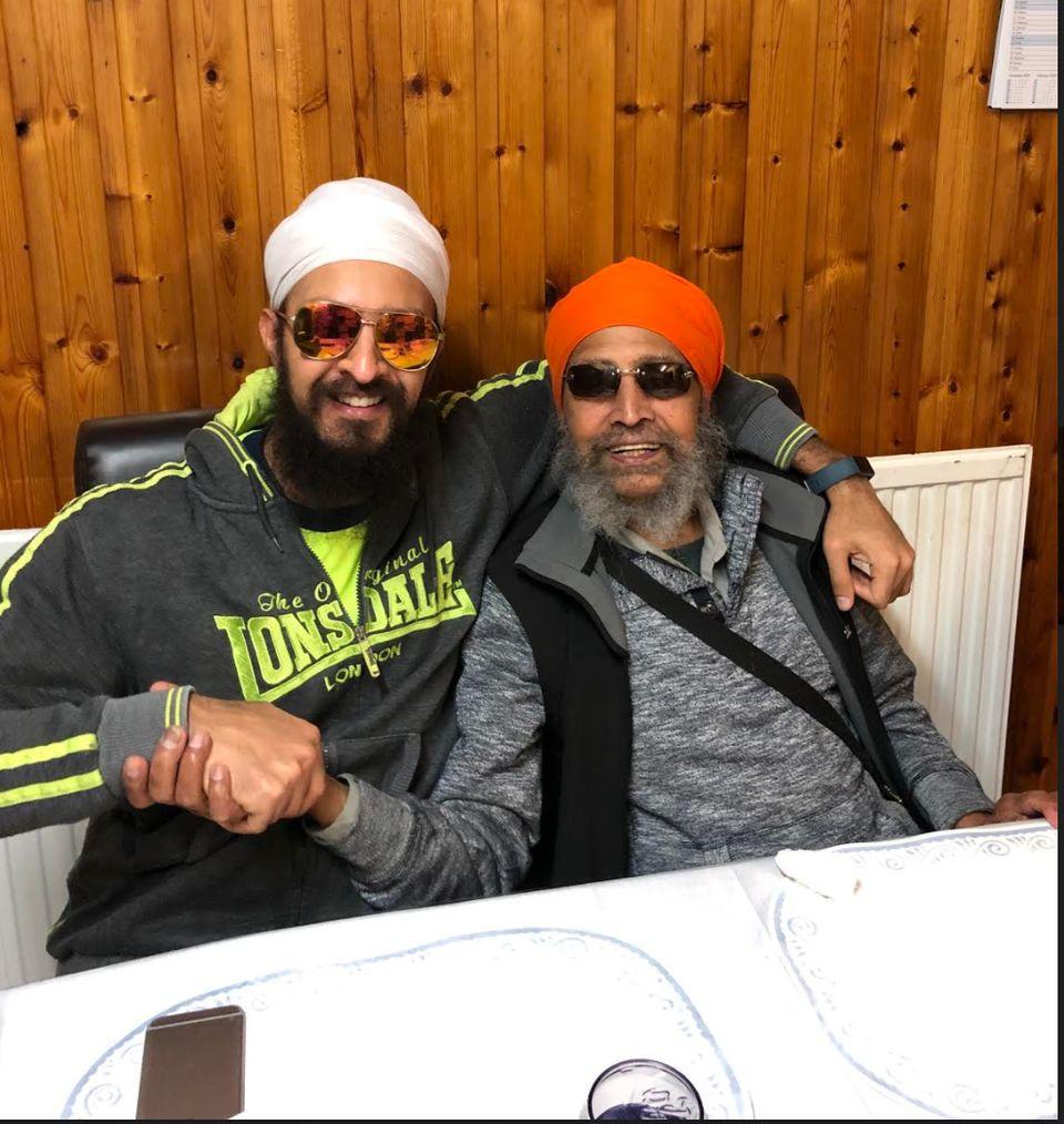 Paman and his grandfather Amrik