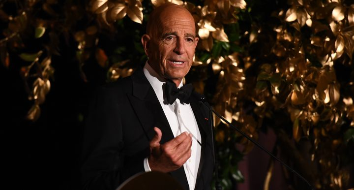 Thomas Barrack speaks at a gala at The Plaza Hotel in New York on Nov. 12, 2018.